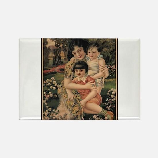 Vintage poster - Happy Children Magnets