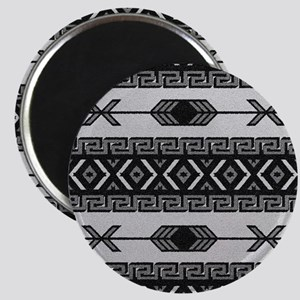 Black And White Aztec Pattern Magnets