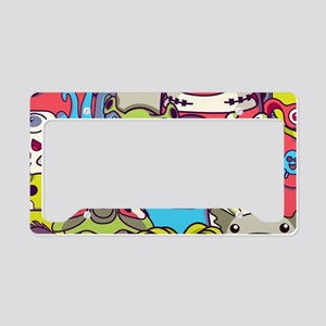 Monsters and Aliens License Plate Holder