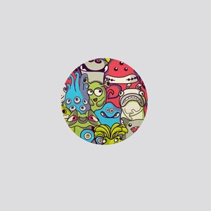 Monsters and Aliens Mini Button