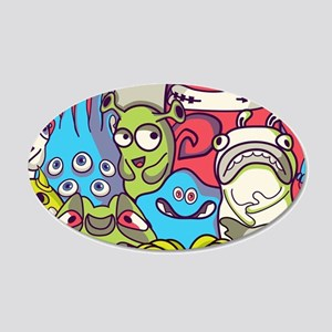 Monsters and Aliens Wall Decal