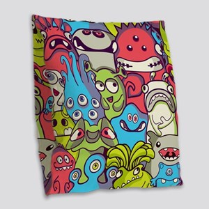 Monsters and Aliens Burlap Throw Pillow