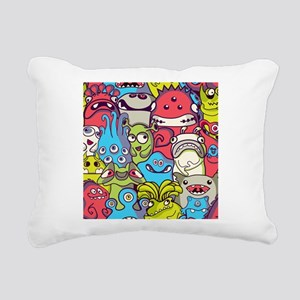 Monsters and Aliens Rectangular Canvas Pillow
