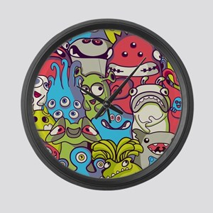 Monsters and Aliens Large Wall Clock