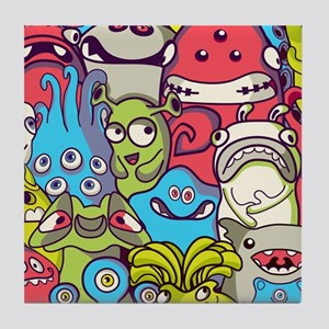 Monsters and Aliens Tile Coaster