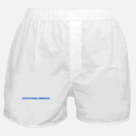 Structural Engineer Blue Bold Design Boxer Shorts