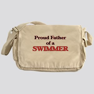 Proud Father of a Swimmer Messenger Bag