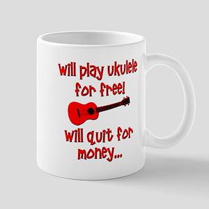 funny red ukulele Mugs