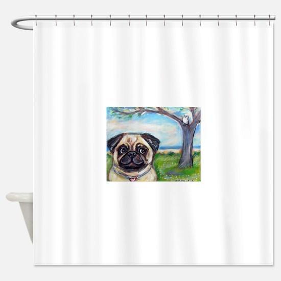 Unique Pug or pugs Shower Curtain