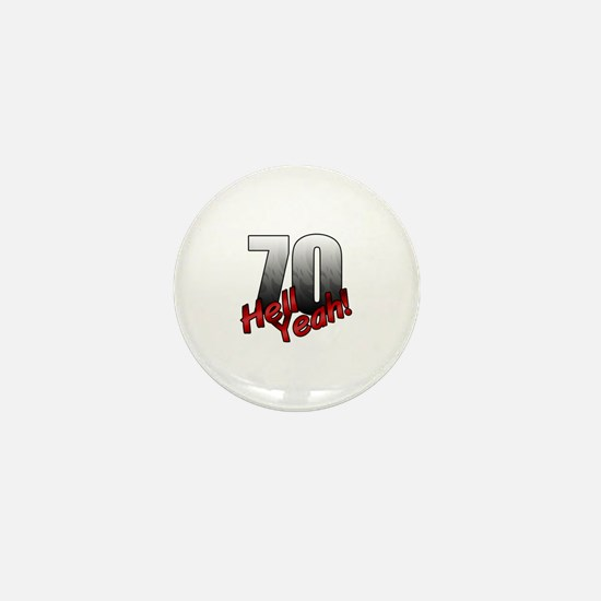 Funny 70th Mini Button