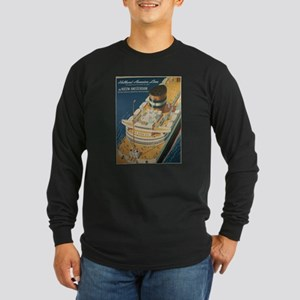 Vintage poster - Cruise ship Long Sleeve T-Shirt