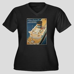 Vintage poster - Cruise ship Plus Size T-Shirt