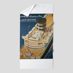 Vintage poster - Cruise ship Beach Towel
