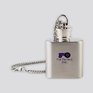 Purple Tractor Flask Necklace