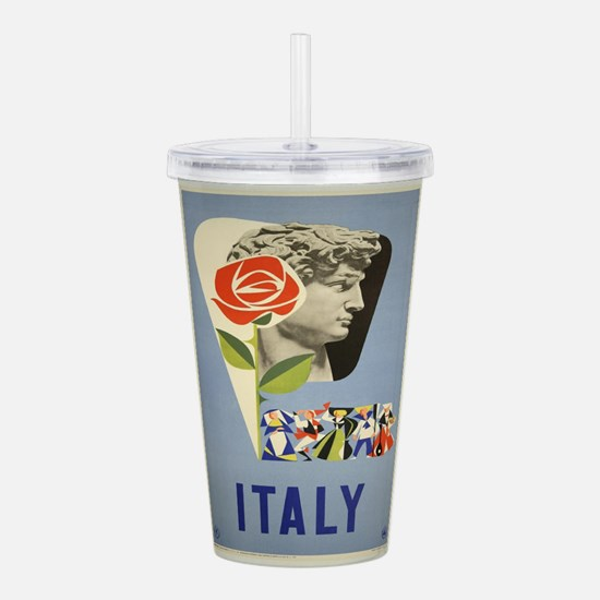 Vintage poster - Italy Acrylic Double-wall Tumbler