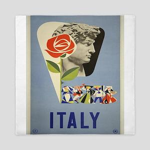Vintage poster - Italy Queen Duvet