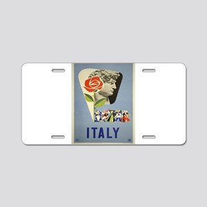Vintage poster - Italy Aluminum License Plate