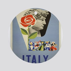 Vintage poster - Italy Round Ornament