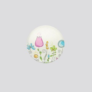 Spring Flowers Mini Button