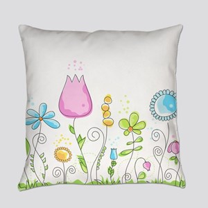 Spring Flowers Everyday Pillow
