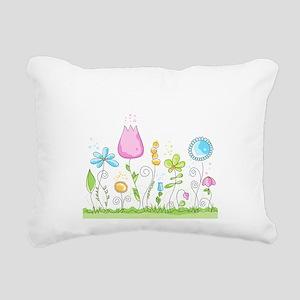 Spring Flowers Rectangular Canvas Pillow