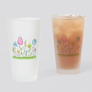 Spring Flowers Drinking Glass