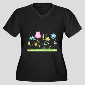 Spring Flowers Plus Size T-Shirt