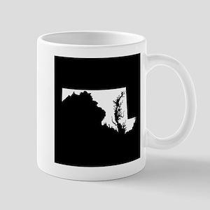 maryland white black Mug