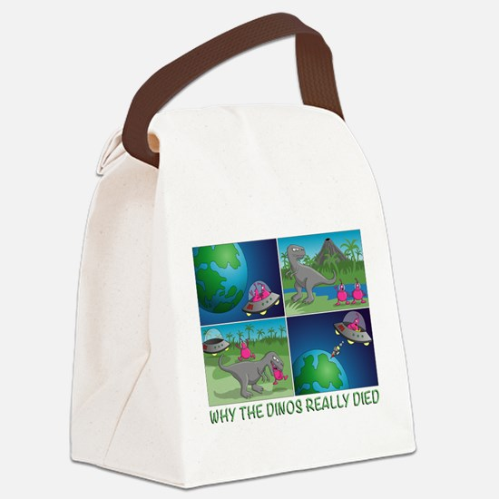 why the dinos really died Canvas Lunch Bag