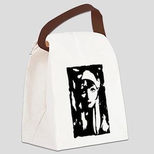Clara Bow Ink Canvas Lunch Bag