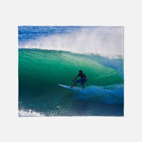 Unique Surfing Throw Blanket