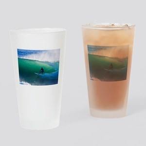 Surfing The Tube Drinking Glass