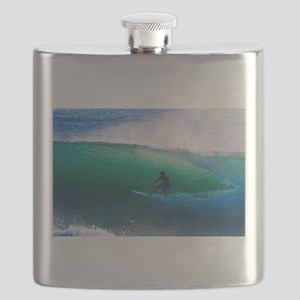 Surfing The Tube Flask