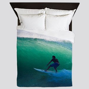 Surfing The Tube Queen Duvet