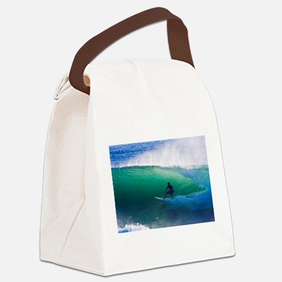 Surfing The Tube Canvas Lunch Bag