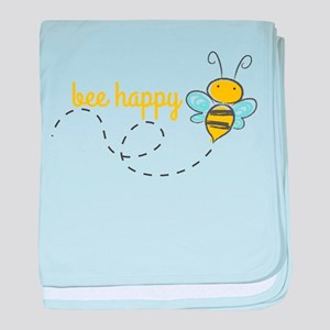 Bee Happy baby blanket