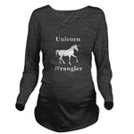 Unicorn Wrangler Long Sleeve Maternity T-Shirt