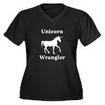 Unicorn Wran Women's Plus Size V-Neck Dark T-Shirt