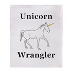 Unicorn Wrangler Throw Blanket