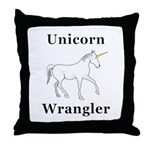 Unicorn Wrangler Throw Pillow