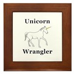 Unicorn Wrangler Framed Tile