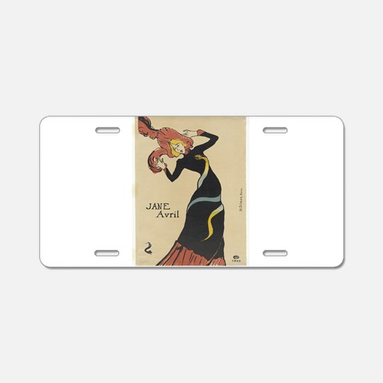 Vintage poster - Jane Avril Aluminum License Plate