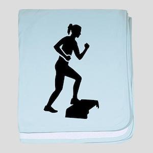 Step aerobics baby blanket