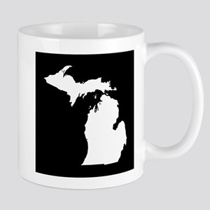michigan white black Mug