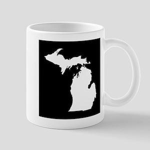 michigan white black Mug