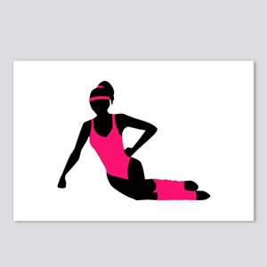 Aerobics girl Postcards (Package of 8)
