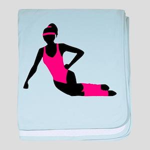 Aerobics girl baby blanket