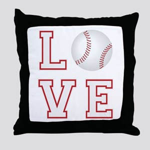 Love Baseball Throw Pillow