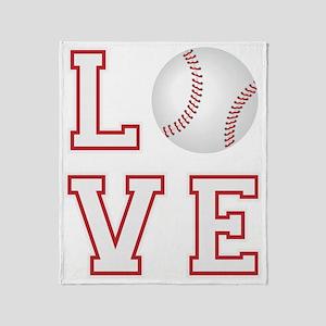Love Baseball Throw Blanket