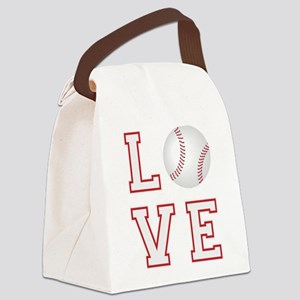 Love Baseball Canvas Lunch Bag